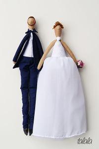 personalizowane lalki ślubne