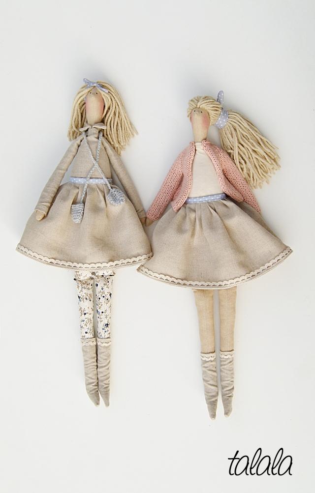 Naturalne lalki dekoracyjne Handmade