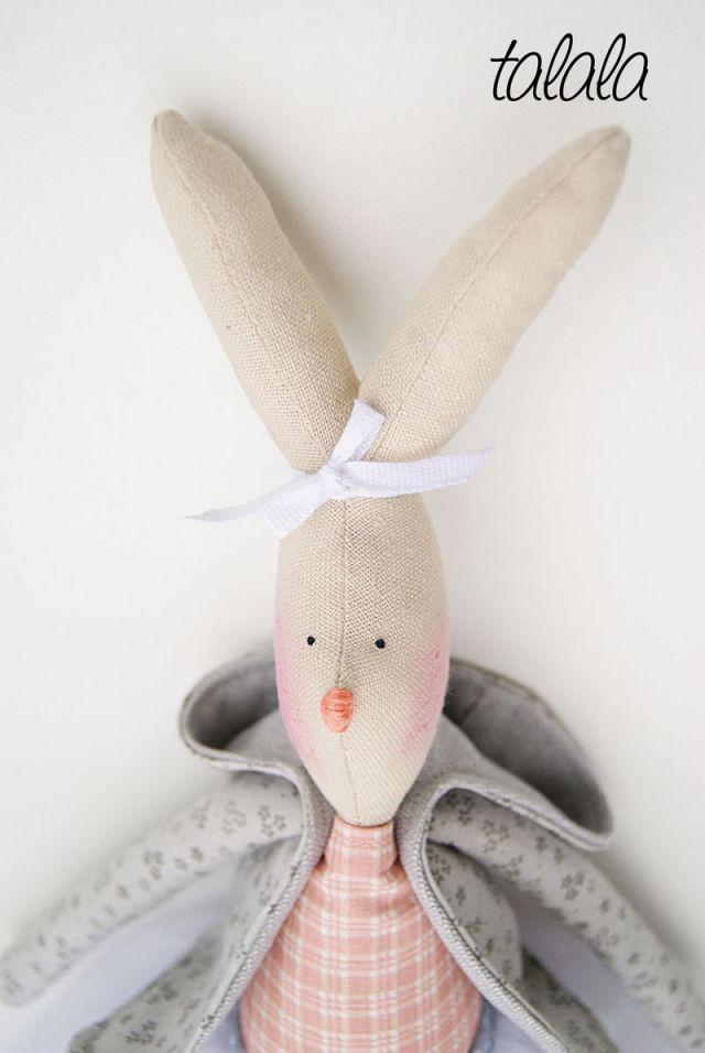 Ręcznie szyte króliki