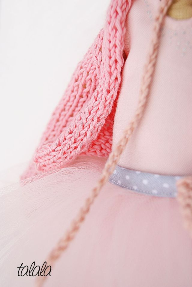szmaciane lalki z ubrankami