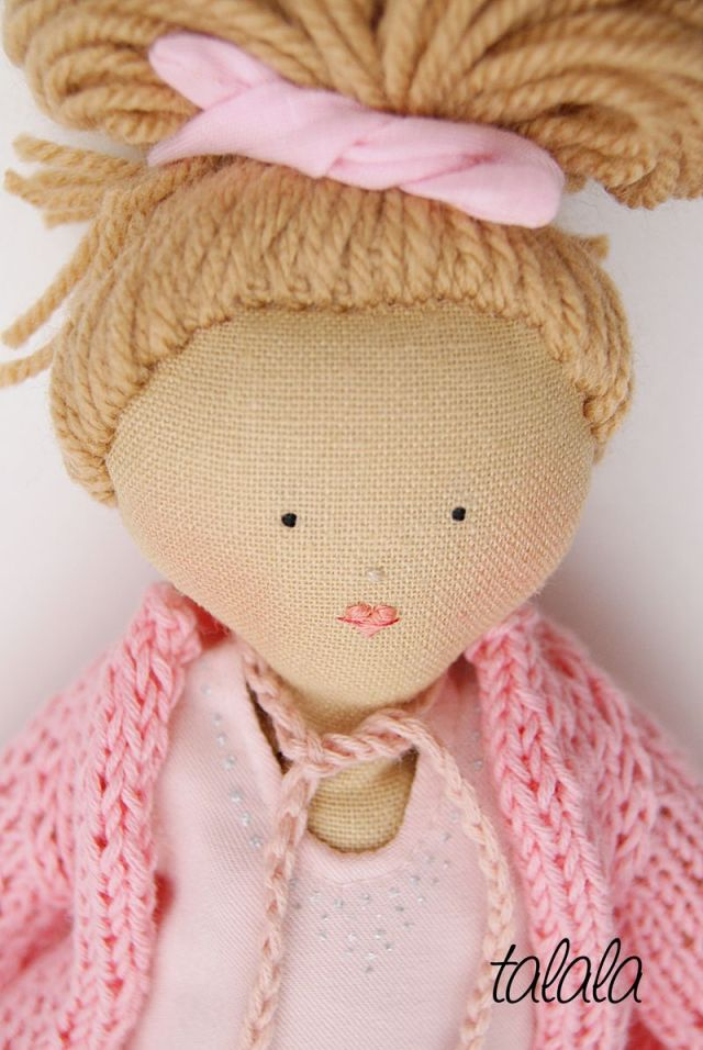 Ręcznie szyte lalki Handmade Talala personalizowana
