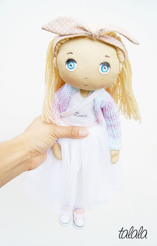 Rag dolls lalka ręcznie robiona z imieniem