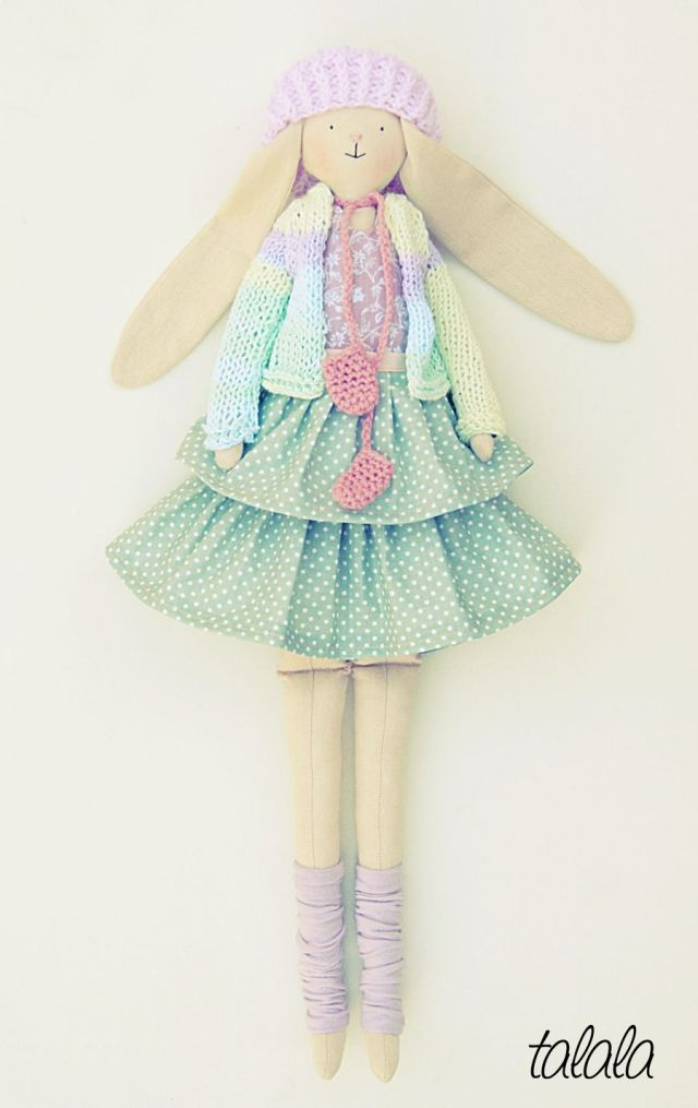 Królik lalka z ubrankami ( lalka rozbieralna )