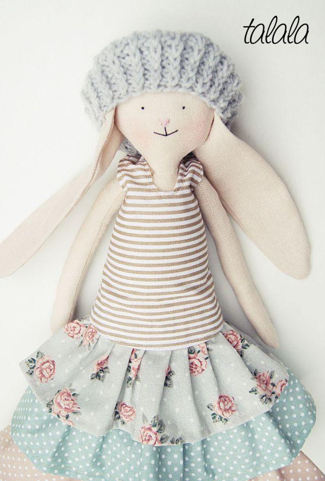 Królik lalka przytulanka i dekoracja