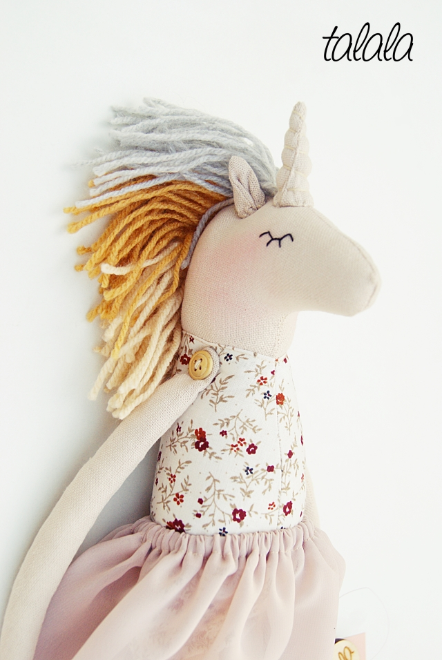 Jednorożec lalka szmaciana