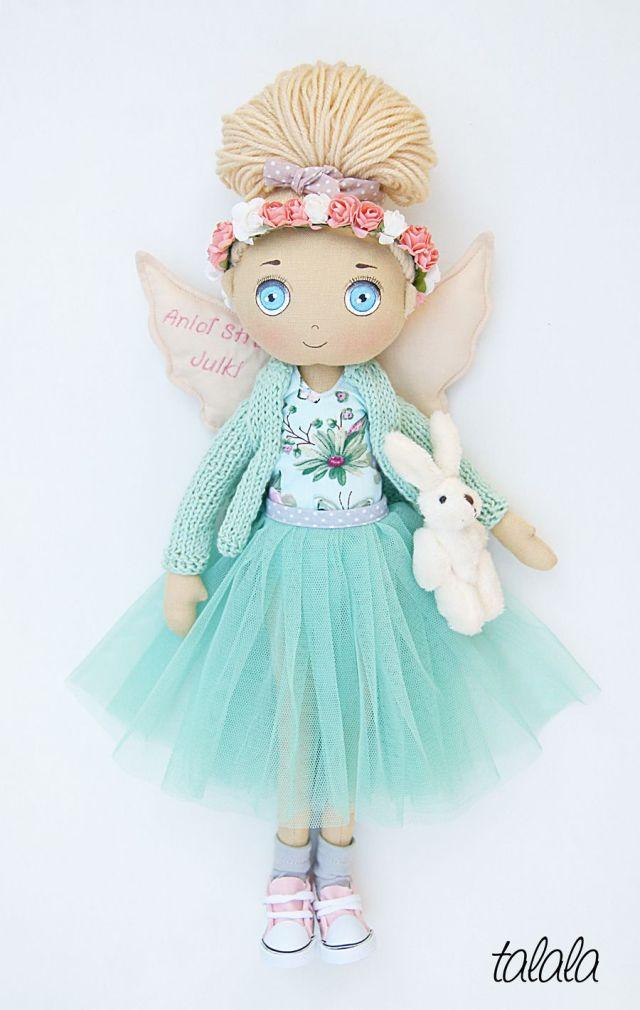 lalka rękodzieło anioł