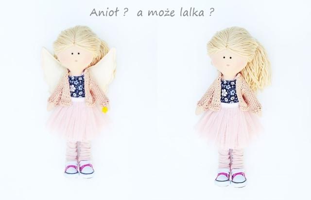 lalka anioł handmade